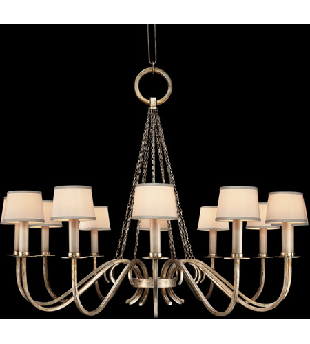 Fine Art Lamps 420840ST Portobello Road 12 Light 47 inch Platinized Silver Chandelier Ceiling Light photo