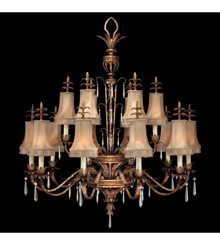 Fine Art Lamps 428040ST Pastiche 16 Light 48 inch Platinized Gold Chandelier Ceiling Light photo