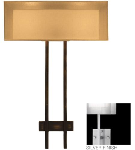 Fine Art Lamps Quadralli 2 Light Sconce in Silver Leaf 436450-2ST photo