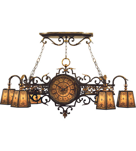 Fine Art Lamps 452440ST Epicurean 7 Light 57 inch Charred Iron Island Fixture Ceiling Light photo