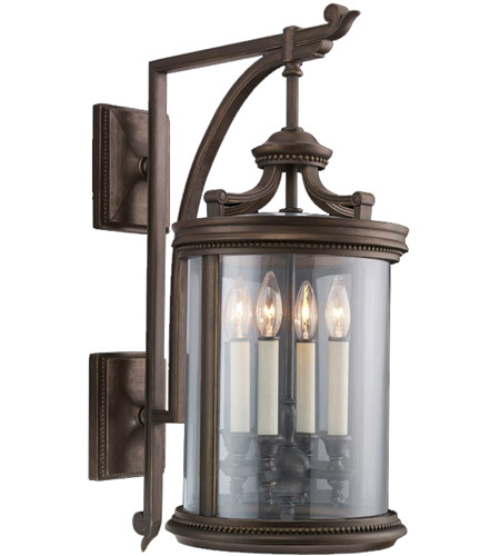Fine Art Lamps Louvre 4 Light Outdoor Wall Mount in Fine Bronze 538481ST photo