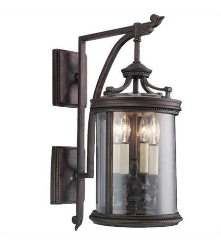 Fine Art Lamps Louvre 4 Light Outdoor Wall Mount in Fine Bronze 538581ST photo