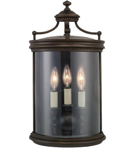 Fine Art Lamps Louvre 3 Light Outdoor Coupe in Fine Bronze 539081ST photo