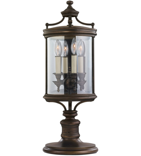 Fine Art Lamps 559483ST Louvre 4 Light 28 inch Fine Bronze Outdoor Adjustable Pier/Post Mount  photo