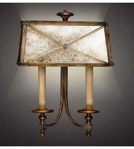 Fine Art Lamps 563250ST Newport 2 Light 16 inch Rustic Burnished Gold w/ Silver Highlights Sconce Wall Light photo