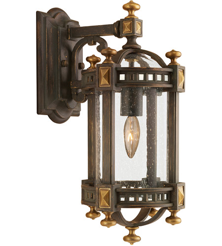 Fine Art Lamps 564581ST Beekman Place 1 Light 18 inch Weathered Woodland Brown Outdoor Wall Mount photo