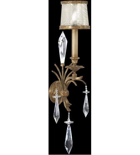 Fine Art Lamps 569050ST Monte Carlo 1 Light 10 inch Gently Worn Gold Leaf Sconce Wall Light photo