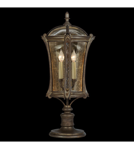 Fine Art Lamps 574480ST Gramercy Park 4 Light 31 inch Aged Antique Gold Outdoor Adjustable Pier/Post Mount photo