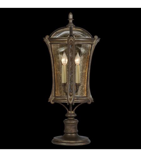Fine Art Lamps Gramercy Park 4 Light Outdoor Adjustable Pier/Post Mount in Aged Antique Gold 574480ST photo