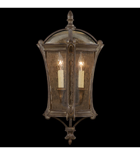 Fine Art Lamps 574781ST Gramercy Park 2 Light 24 inch Aged Antique Gold Outdoor Coupe photo