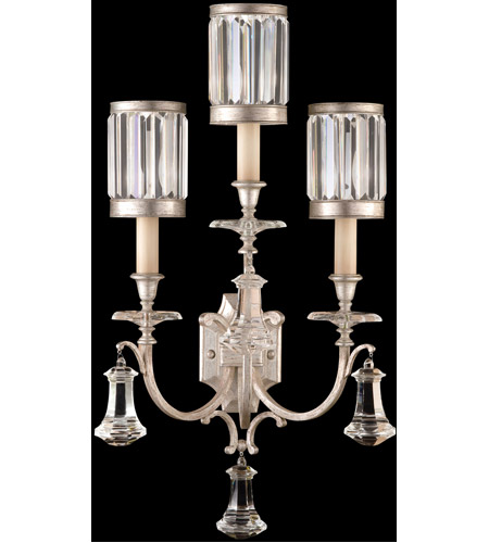 Fine Art Lamps Eaton Place 3 Light Sconce in Muted Silver Leaf 583150-2ST photo