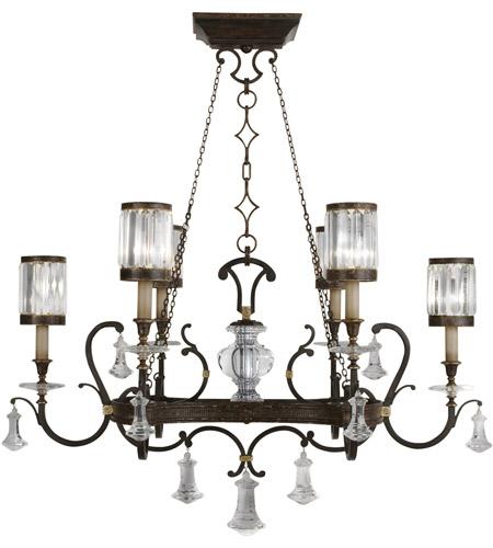 Fine Art Lamps Eaton Place 6 Light Chandelier in Rustic Iron 583840ST photo