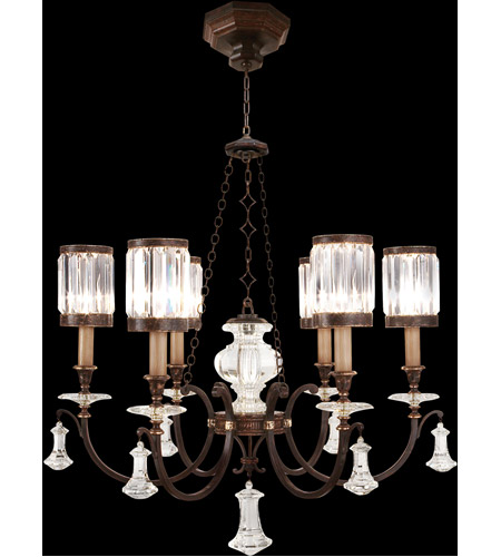 Fine Art Lamps 584240ST Eaton Place 6 Light 32 inch Rustic Iron Chandelier Ceiling Light photo