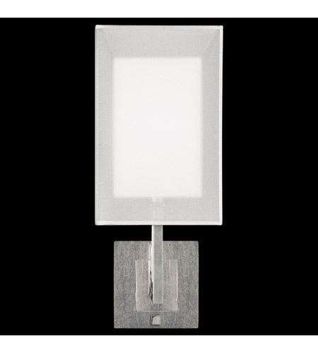 Fine Art Lamps 586750-2ST Quadralli 1 Light 7 inch Silver Leaf Bath Sconce Wall Light photo