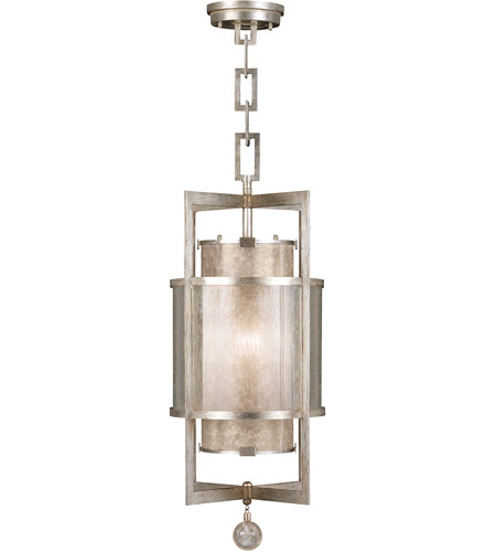 Fine Art Lamps Singapore Moderne 1 Light Lantern in Muted Silver Leaf 590040-2ST photo