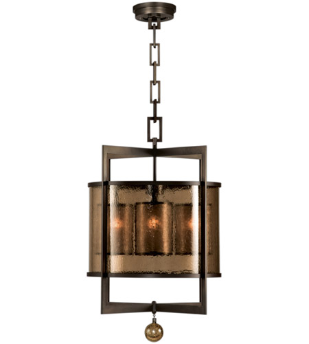 Fine Art Lamps 591140ST Singapore Moderne 4 Light 22 inch Brown Patinated Bronze Lantern Ceiling Light photo