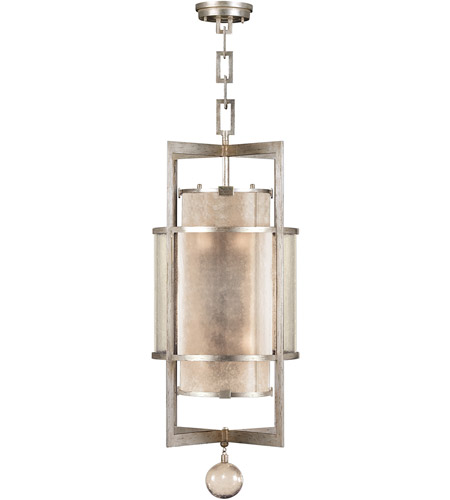 Fine Art Lamps 591240-2ST Singapore Moderne 6 Light 18 inch Muted Silver Leaf Lantern Ceiling Light photo