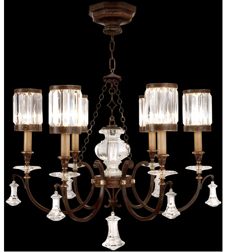 Fine Art Lamps Eaton Place 6 Light Chandelier in Rustic Iron 595440ST photo