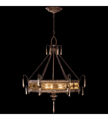 Fine Art Lamps Brazilian 3 Light Pendant in Brown Patina and Prata Antiga Silver Accents (previously 599440ST) 16439 photo