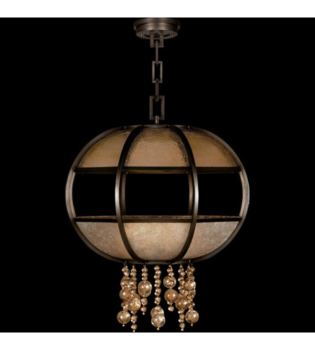 Fine Art Lamps Singapore Moderne 8 Light Pendant in Brown Patinated Bronze 600240ST photo