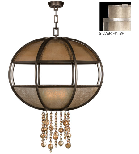 Fine Art Lamps Singapore Moderne 8 Light Pendant in Muted Silver Leaf 600340-2ST photo