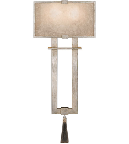 Fine Art Lamps 600550-2ST Singapore Moderne 2 Light 10 inch Muted Silver Leaf Sconce Wall Light photo