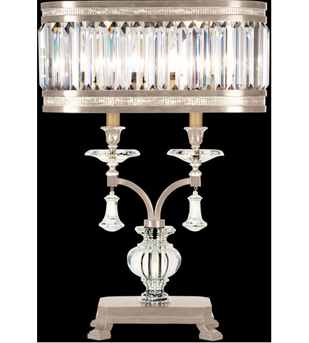 Fine Art Lamps Eaton Place 2 Light Table Lamp in Warm Muted Silver Leaf 606010-2ST photo
