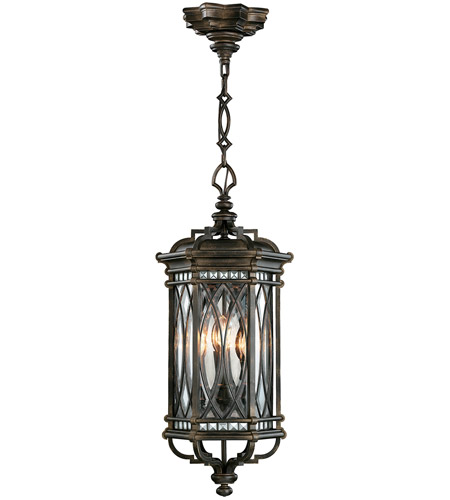 Fine Art Lamps 610882ST Warwickshire 4 Light 13 inch Wrought Iron Patina Outdoor Lantern photo