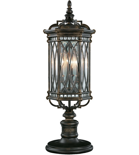 Fine Art Lamps Warwickshire 3 Light Outdoor Adjustable Pier/Post Mount in Wrought Iron Patina 611283ST photo