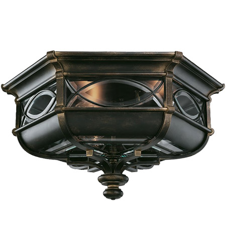 Fine Art Lamps 611682ST Warwickshire 3 Light 21 inch Wrought Iron Patina Outdoor Flush Mount photo