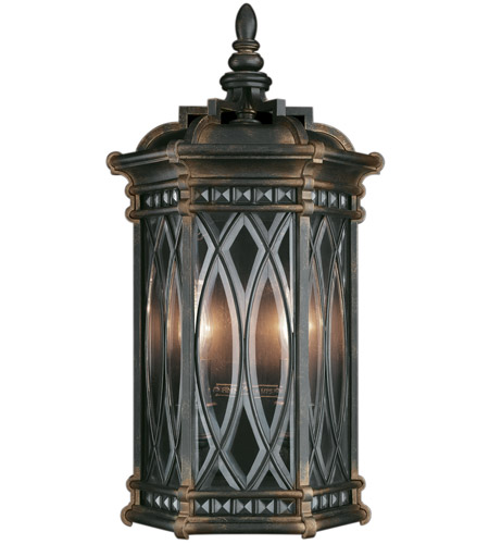 Fine Art Lamps 611881ST Warwickshire 2 Light 21 inch Wrought Iron Patina Outdoor Coupe photo