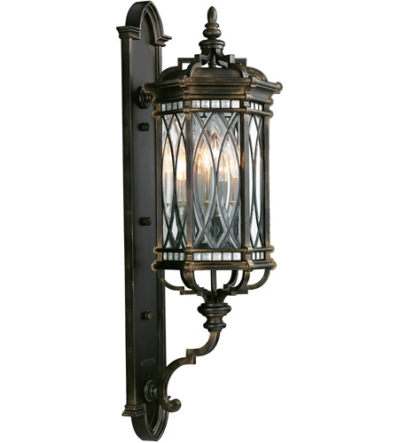 Fine art lamps 612081st warwickshire 4 light 41 inch black for Luxury exterior lighting