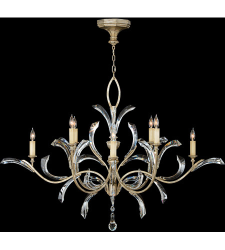 Fine Art Lamps 701240st Beveled Arcs 8 Light 57 Inch Silver Chandelier Ceiling