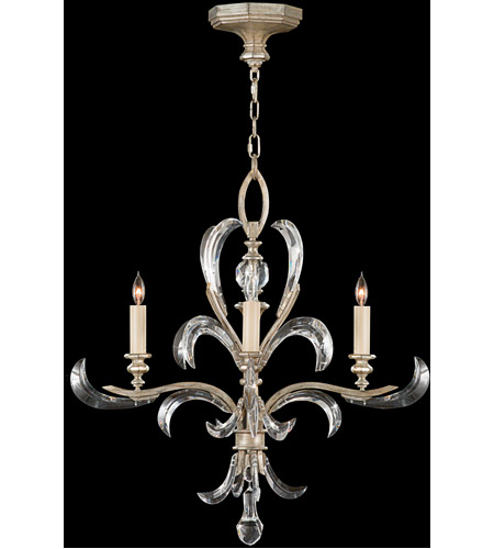Fine Art Lamps 701540ST Beveled Arcs 4 Light 28 inch Warm Muted Silver Leaf Chandelier Ceiling Light photo