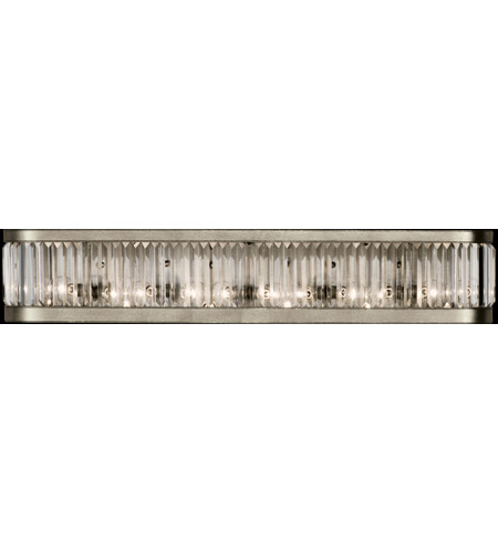 Fine Art Lamps 706650ST Crystal Enchantment 6 Light 38 inch Platinized Silver Sconce Wall Light photo