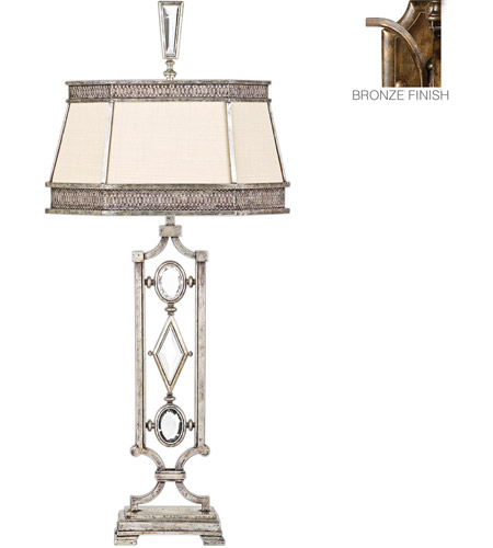 Fine Art Lamps Encased Gems 1 Light Table Lamp in Venerable Bronze Patina 707210-3ST photo