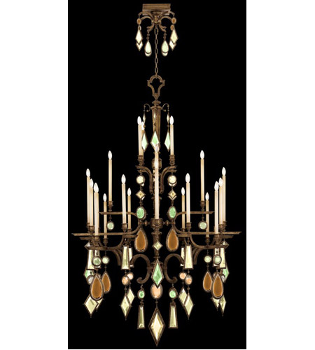 Fine Art Lamps 709440-1ST Encased Gems 24 Light 53 inch Venerable Bronze Patina Chandelier Ceiling Light photo