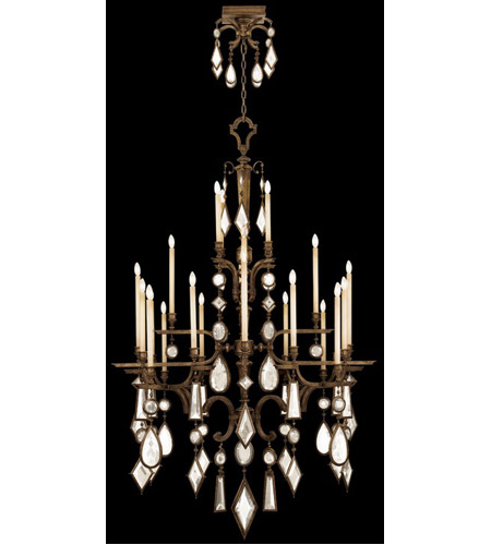 Fine Art Lamps 709440-3ST Encased Gems 24 Light 53 inch Venerable Bronze Patina Chandelier Ceiling Light photo