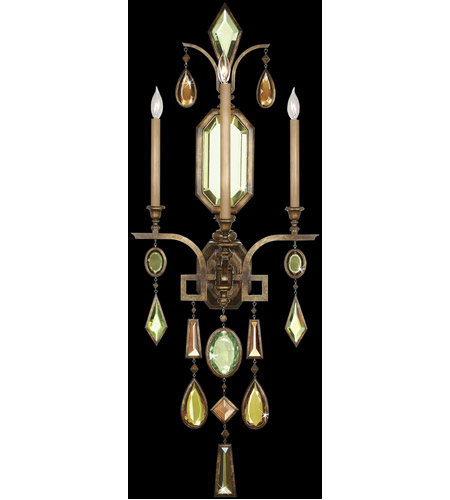 Fine Art Lamps Encased Gems 3 Light Sconce in Venerable Bronze Patina 710450-1ST photo