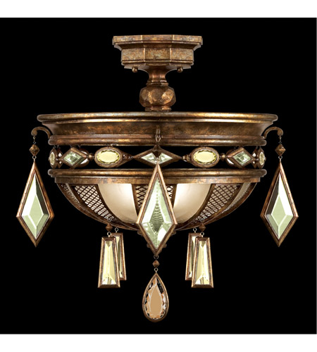 Fine Art Lamps 711440-1ST Encased Gems 3 Light 21 inch Venerable Bronze Patina Semi-Flush Mount Ceiling Light photo