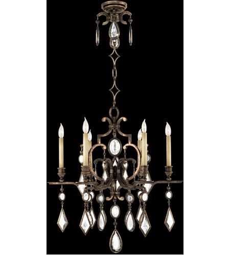 Fine Art Lamps Encased Gems 6 Light Chandelier In