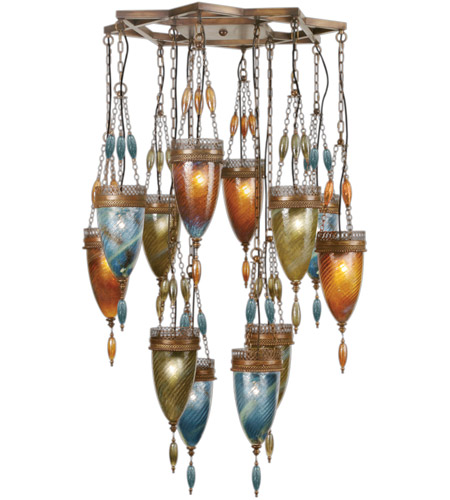Fine Art Lamps Scheherazade 12 Light Pendant in Aged Dark Bronze 718540-5ST photo