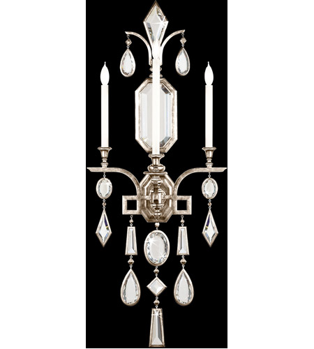 Fine Art Lamps 726950-3ST Encased Gems 3 Light 19 inch Silver Wall Sconce Wall Light photo
