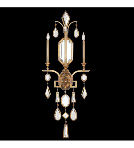 Fine Art Lamps 727050-3ST Encased Gems 3 Light 19 inch Gold Wall Sconce Wall Light photo