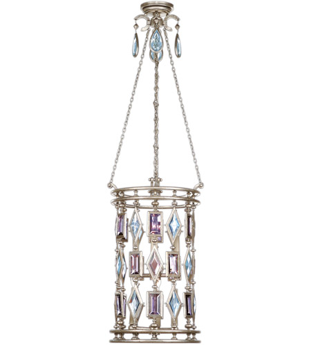 Fine Art Lamps 727440-1ST Encased Gems 6 Light 15 inch Vintage Silver Leaf Lantern Ceiling Light photo