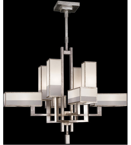 Fine Art Lamps 733840-2ST Perspectives Silver 8 Light 42 inch Muted Silver Leaf Chandelier Ceiling Light photo