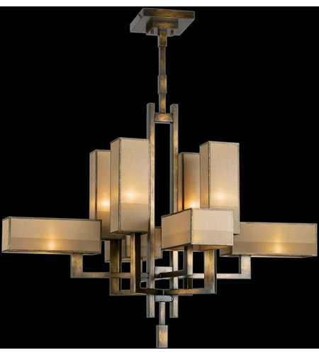 Fine Art Lamps Perspectives 8 Light Chandelier in Patinated Golden Bronze 733840ST photo