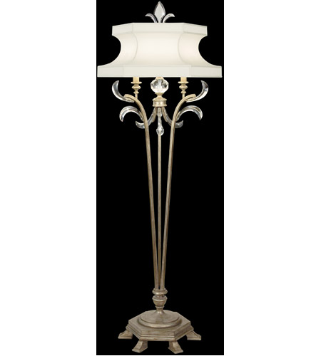 Fine Art Lamps Beveled Arcs 1 Light Floor Lamp in Warm Muted Silver Leaf 737420ST photo