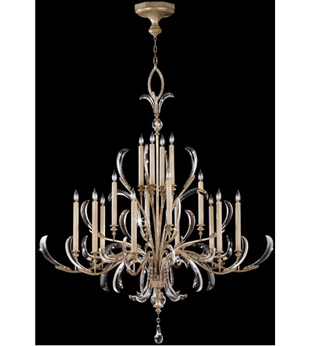 Fine Art Lamps Beveled Arcs 16 Light Chandelier in Muted Silver Leaf 739640ST photo