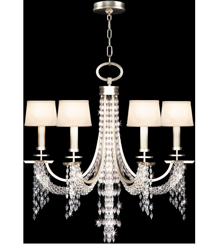 Fine Art Lamps 748740ST Cascades 6 Light 29 inch Warm Silver Leaf Chandelier Ceiling Light photo